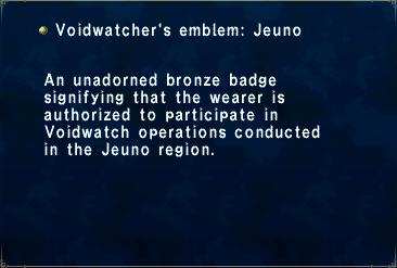 Voidwatcher's Emblem Jeuno
