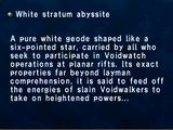 White Stratum Abyssite
