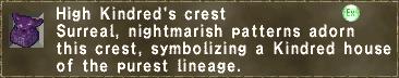 High Kindred's crest