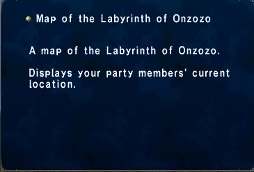 Key Item Map of the Labyrinth Onzozo