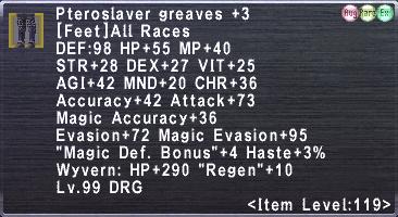 Pteroslaver greaves +3