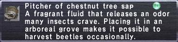 Chestnut Tree Sap