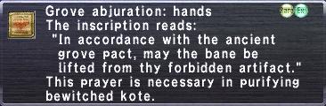 Grove Abjuration Hands