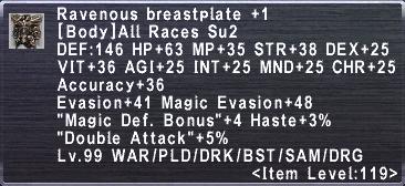 Ravenous Breastplate +1