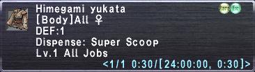 Himegami yukata info