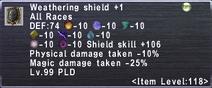 Weathering Shield +1