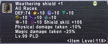 Weathering Shield +1