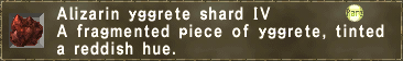 Alizarin yggrete shard IV