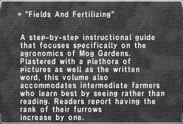 Fields And Fertilizing