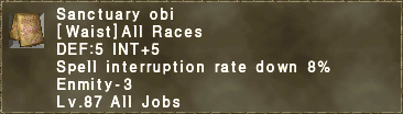 Sanctuary obi