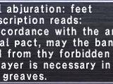 Wyrmal Abjuration: Feet