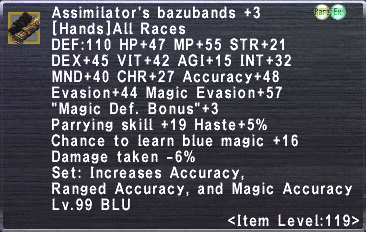 Assimilator's Bazubands +3