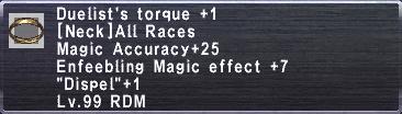 Duelist's Torque +1
