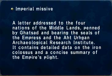 Imperial Missive