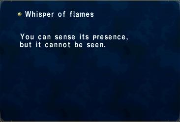 Whisper of flames