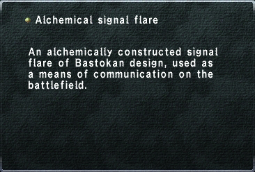 Alchemical signal flare