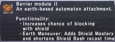 Barrier Module II