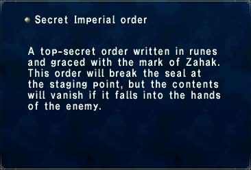 Secret Imperial order