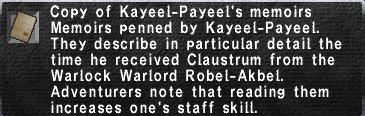 12 Kayeel-Payeel's Memoirs