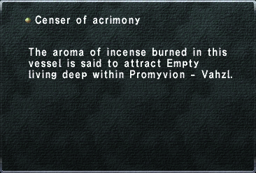 Censer of acrimony