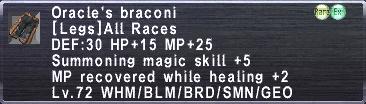 Oracle's Braconi