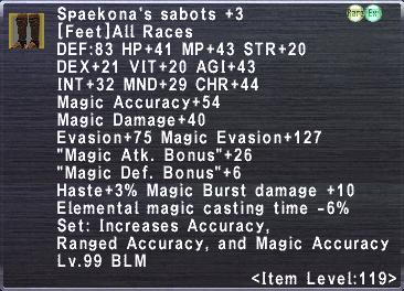 Spaekona's Sabots +3