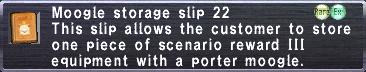 Storage Slip 22