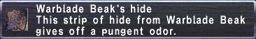 Warblade Beak's hide