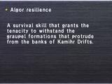 Algor resilience