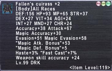 Fallen's Cuirass +2