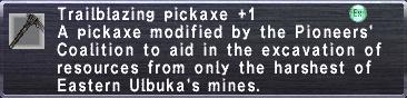 Trailblazing Pickaxe +1