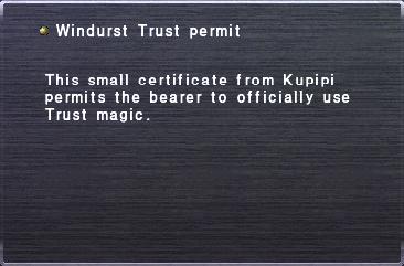 Windurst Trust permit