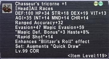 Chasseur's Tricorne +1