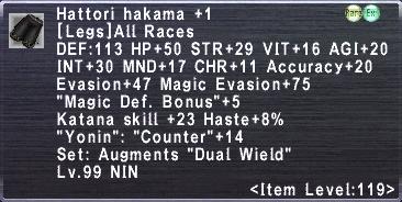 Hattori Hakama +1