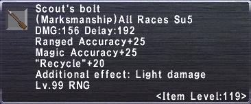 Scout's Bolt
