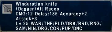 Windurstian Knife