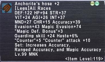 Anchorite's Hose Plus 2