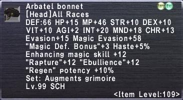 Arbatel Bonnet