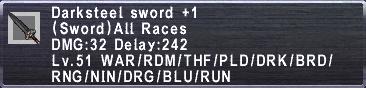 Darksteel Sword +1