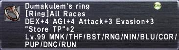Dumakulem's ring