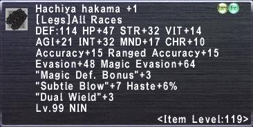Hachiya hakama 1