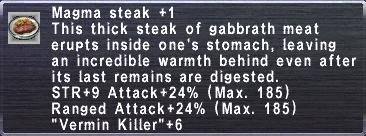 Magma Steak +1