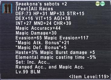 Spaekona's Sabots +2