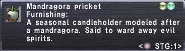 Mandragora pricket info