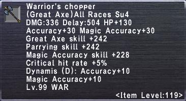 Warrior's Chopper
