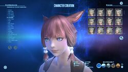 XIV Character Creation Screen