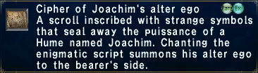 Cipher Joachim