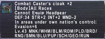 Combat Caster's Cloak+2