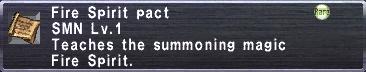 Fire Spirit Pact