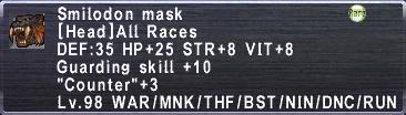 Smilodon Mask
